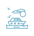 walk on the yacht linear icon concept walk on the vector image vector image