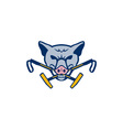 Wild Hog Head Crossed Polo Mallet Retro vector image vector image