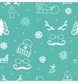 winter seamless ornament vector image