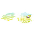 rural landscape and a small house background vector image