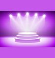 3d Pink stage light background theatrical vector image