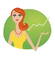 Successful business woman investments market stock vector image