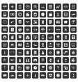 100 auto repair icons set black vector image vector image