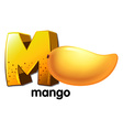 A letter M for mango vector image vector image
