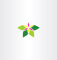 abstract flower with leaves icon sign vector image vector image