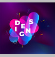 abstract origami colorful 3d icon logo isolated vector image vector image