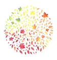 Autumn with motley leaves vector image vector image