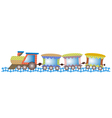 baby train vector image