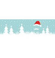 banner christmas card with santa claus and trees vector image