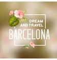 Barcelona travel print vector image vector image