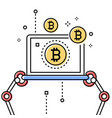 bitcoin business - colorful line design style vector image