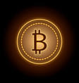 bitcoin cryptocurrency sign vector image
