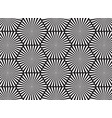 black and white abstract line background vector image