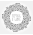black and white floral frame pattern of vector image
