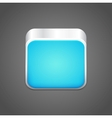 blank blue app icon vector image