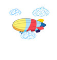 bright airship vector image