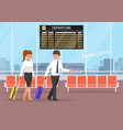 businessman and businesswoman at the airport vector image vector image
