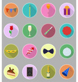 celebration flat icons 20 vector image vector image