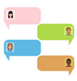 chat bubbles chatbot and real people message vector image