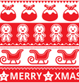 Christmas cute red seamless pattern vector image vector image