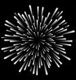cosmic explosion starburst radial line rays vector image