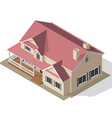 cottage isometric vector image vector image