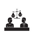 court black concept icon court flat vector image vector image