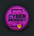 cyber monday sale banner vector image