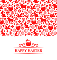 easter pattern card red vector image