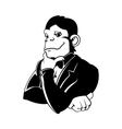 Elegant monkey in a tux vector image vector image