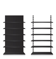 Empty shop shelves black vector image vector image