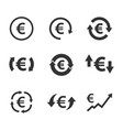 euro exchange icon set currency convert finance vector image vector image