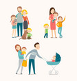 family and kids vector image vector image