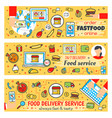 fast food delivery banners vector image vector image
