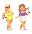 Fat girl character vector image vector image
