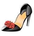 Feminine loafers vector image