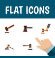 flat icon hammer set of crime court justice and vector image vector image