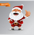 funny cartoon little santa claus mascot without vector image