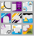 geometric shapes ad poster set with modern colors vector image