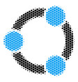 halftone dot cooperation icon vector image