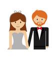 happy wedding couple icon vector image vector image