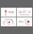 healthy lifestyle sports daily activity and diet vector image vector image
