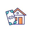home buying process rgb color icon vector image