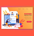 job search business recruiting and headhunting vector image vector image