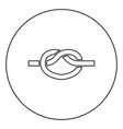 knot rope tied node join concept noose icon in vector image vector image