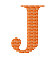 letter j vector image vector image
