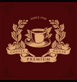 logo coffee shop premium badge vector image vector image