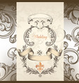 luxury wedding invitation in victorian style vector image vector image