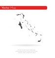 map bahamas isolated black vector image vector image