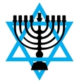 Menorah symbol of Judaism isolated vector image
